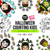 Halloween Counting Kids Clipart Bundle