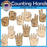 Counting Hands Clip Art (Realistic, Numbers, Fingers)