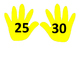 Counting Hands - Count by 5's or 10's number line or bulletin board posters