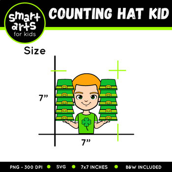 Counting Hat Kid Clip Art