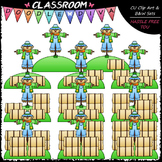 (0-10) Counting Hay Bales Clip Art - Sequence, Counting &