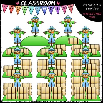 Counting Hay Bales Clip Art - Sequence, Counting & Math Clip Art