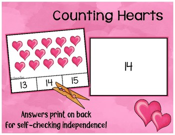 Counting Hearts - 0 to 20