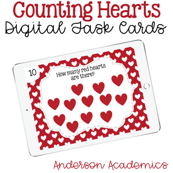 Counting Hearts - Digital Task Cards
