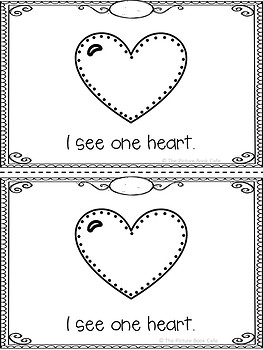 Valentine's Day Counting Hearts Emergent Reader