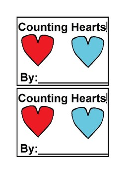 Counting Hearts Emergent Reader Book in Color for Preschool&Kindergarten