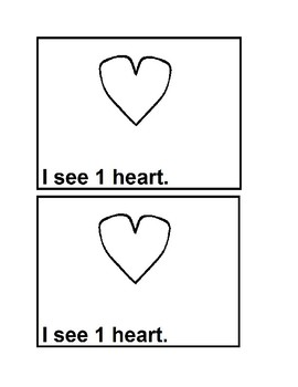 Counting Hearts Emergent Reader Books in Black & White or Preschool&Kindergarten