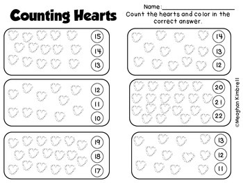 Counting Hearts: Math Journal