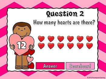 Counting Hearts - Teacher vs Student Powerpoint Game