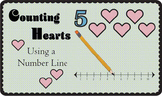 Counting Hearts Using a Number Line