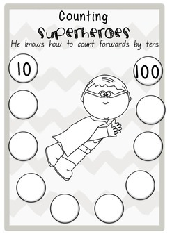 Counting Heros- Counting by 10's