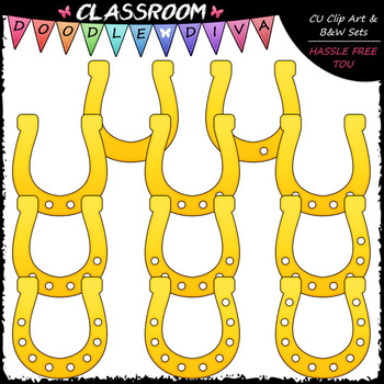 (0-10) Counting Horseshoe Holes - Sequence, Counting & Math Clip Art & B&W Set