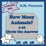 Counting How Many Animals? 1-10 Circle the Answer