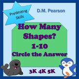 Counting How Many Shapes? 1-10 Circle the Answer