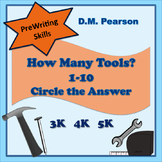 Counting  How Many Tools? 1-10 Circle the Answer