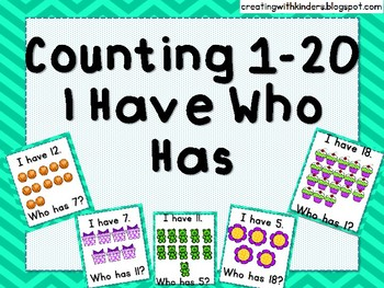 Counting I Have Who Has
