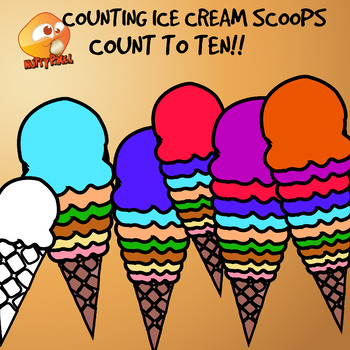 Counting Ice Cream Scoops Clip Art