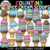 Counting Ice Cream Scoops Clipart {Build an ice cream cone