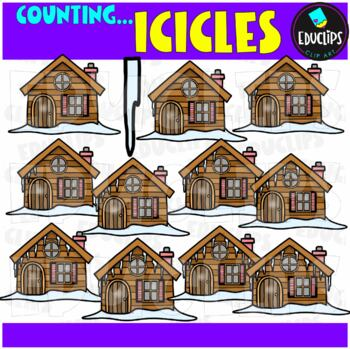 Counting Icicles Clip Art Bundle  {Educlips Clipart}