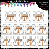 (0-10) Counting Icicles Clip Art - Sequence, Counting & Ma