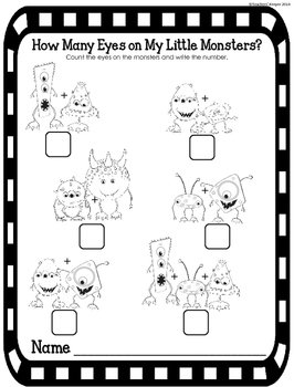Counting & Identifying Numbers 1-10: My Little Monsters Game