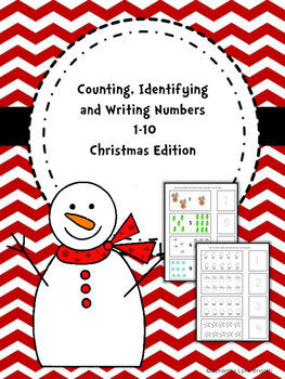 Counting, Identifying and Writing Numbers 1-10  Christmas Edition