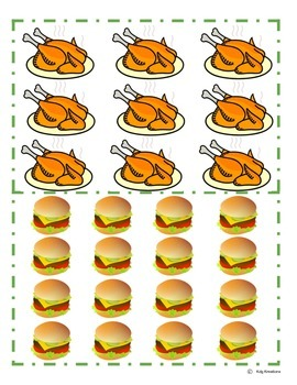 Counting In Arrays- Teen Numbers- Food Pictures