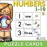 Counting Bugs 1-10 Number Puzzle Cards