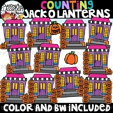 Counting Jack o Lanterns Clipart {Halloween Clipart}