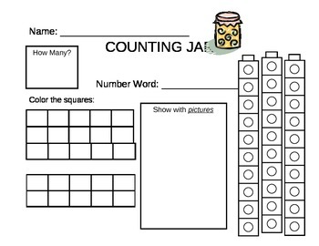 Counting Jar-30 with number sentences