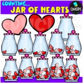Counting Jar Of Hearts Clip Art Bundle  {Educlips Clipart}