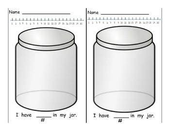 Counting Jar Recording Sheets