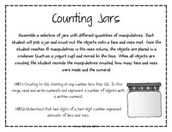 Counting Jars: 1.NBT.1, 1.NBT.2
