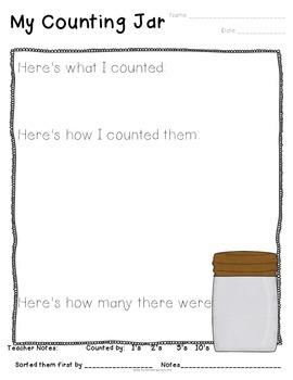 Counting Jars Recording Sheets