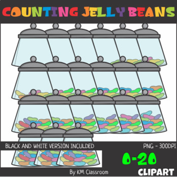 Counting Jelly Beans 0-20 Clip Art