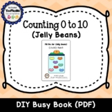 Counting Jelly Beans - Fill the Jar DIY Interactive Book P