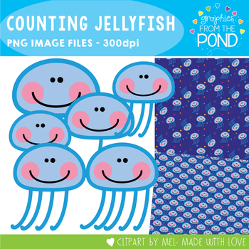 Counting Jellyfish Clipart