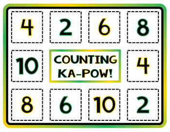 """Counting KA-POW (3 """"Count-and-Match the Number"""" Games) - K and pre-K"""