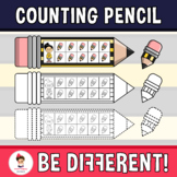Counting Kid Clipart With Pencil (PartyHead Kiddos)