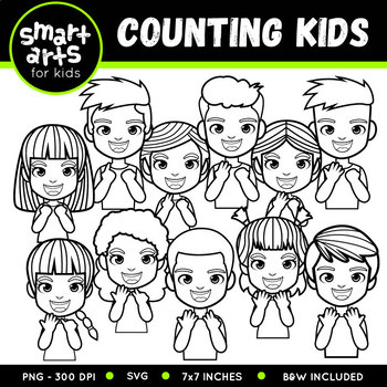 Counting Kids Clip Art