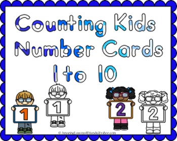 Counting Kids Number Cards 1 to 10