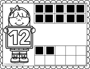 Counting Kids Number Mats 11 to 20