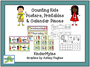 Counting Kids Posters, Printables & Calendar Pieces
