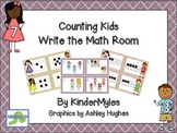 Counting Kids Write the Math Room