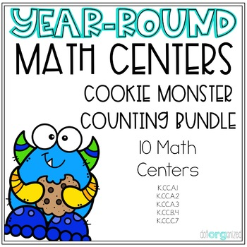Counting and Cardinality Year-Round Kindergarten Math Centers Bundle