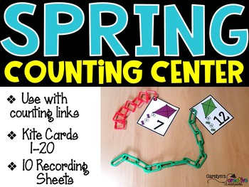 Counting Kites - Spring Math Center - Numbers 1-20