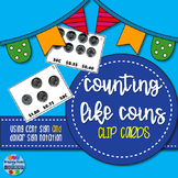 Counting LIKE Coins Clip Cards - Cent AND Dollar Sign