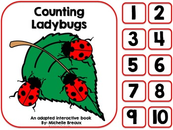 Counting Ladybugs- An Adapted Counting Book {SPED, Autism,