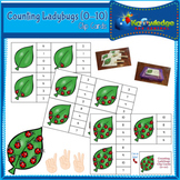 Counting Ladybugs Clip Cards (0-10)