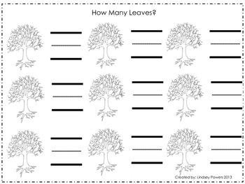 Falling Leaves Math 0-10